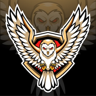 Barn owl mascot. esport logo design