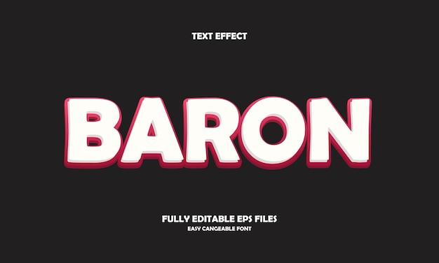 Baron text effect