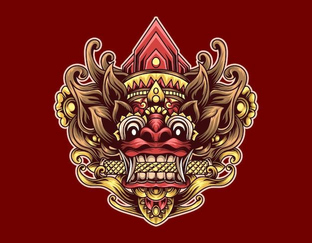 Barong illustration design