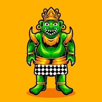 バロンogoh-ogoh文化バリのインドネシアの全身キャラクター