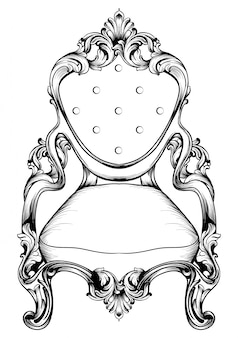 Baroque chair with luxurious ornaments