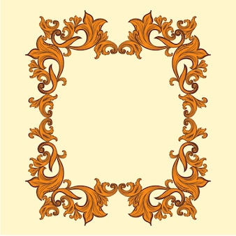 Baroque frame decor