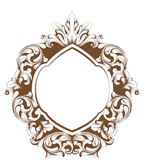 Baroque frame line art