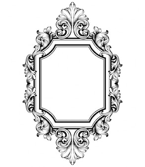 Барочная рамка викторианского декора
