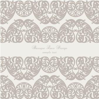 Baroque lace background design