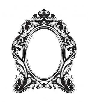 Baroque mirror frame