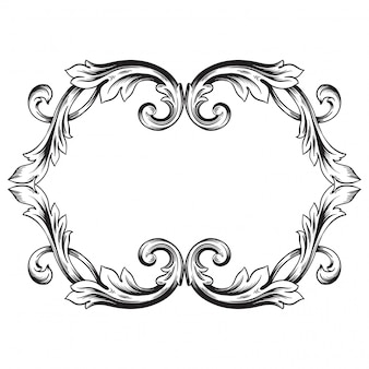 Baroque ornament decorate