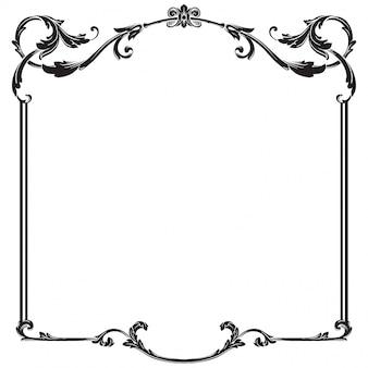 Baroque ornament decorate