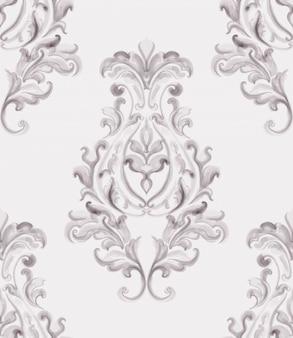 Baroque ornament. luxury watercolor trendy texture. vintage retro old styles