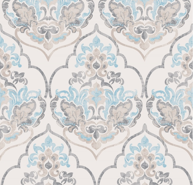 Baroque ornament. luxury watercolor trendy texture