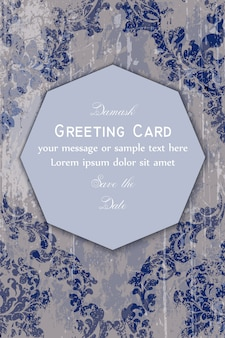 Baroque ornamented greeting card
