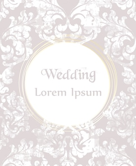 Baroque ornamented wedding invitation
