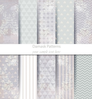 Baroque pattern trendy texture collection