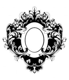 Baroque rich oval shape frame
