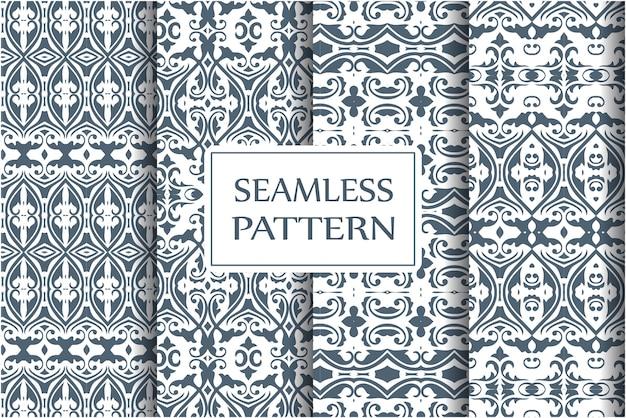 Baroque seamless pattern set.