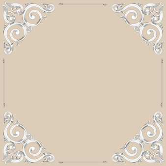 Baroque style hand drawing frame