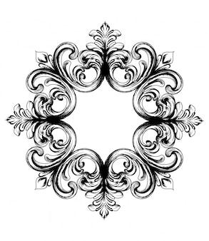Baroque vector vintage ornament