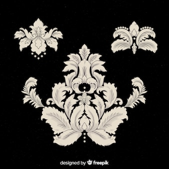 Baroque vintage flower collection