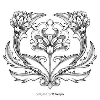 Baroque vintage flower