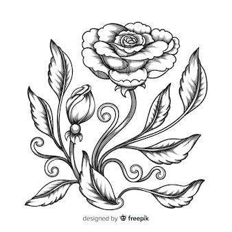 바로크 빈티지 꽃