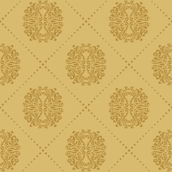 Baroque vintage seamless background. pattern