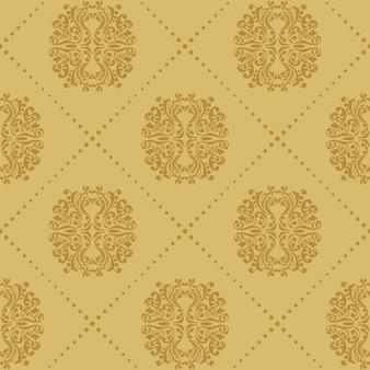 バロック様式のヴィンテージのシームレスな背景。パターン