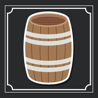 Barrel beer drink beverage traditional icon