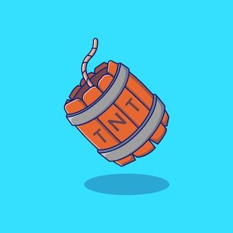 Дизайн иллюстрации бочковой бомбы