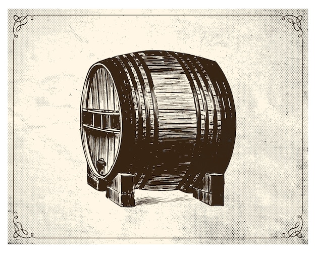 Barrel hand drawn style