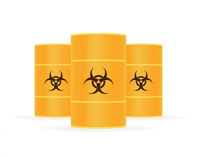 Barrels of biohazard waste, radioactive waste.
