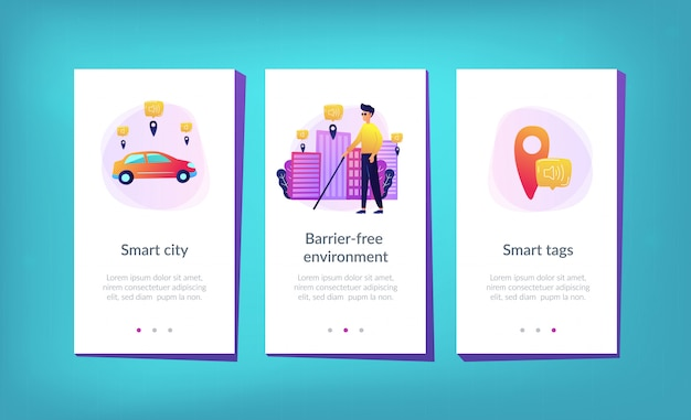 Barrier-free environment and smart city app interface template.