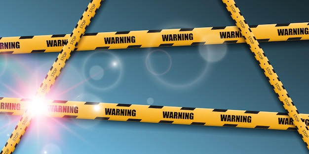 Barrier warning tape on transparent background.  illustration.