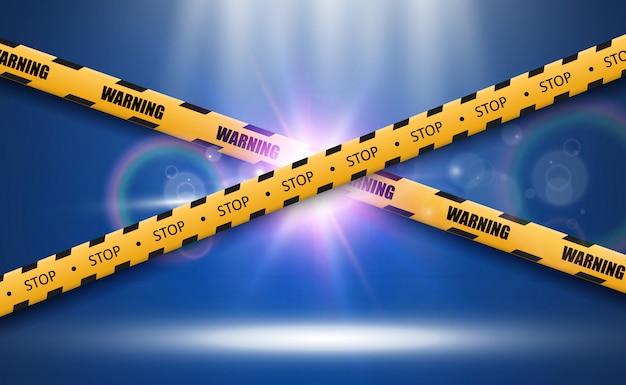 Barrier warning tape on transparent background. vector illustration.