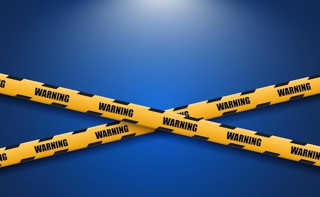 Предупреждающая лента о препятствии