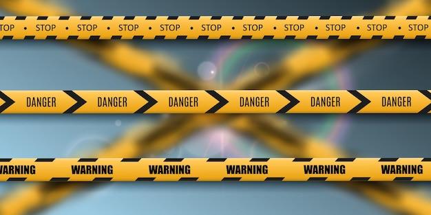 バリア警告テープ
