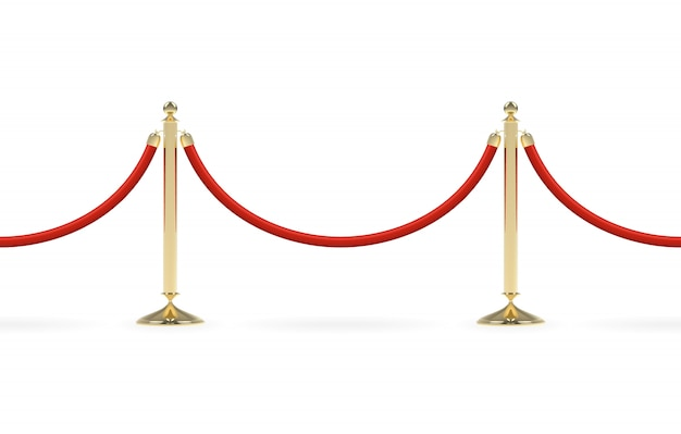 Barriers with red rope