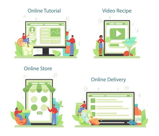Bartender online service or platform set
