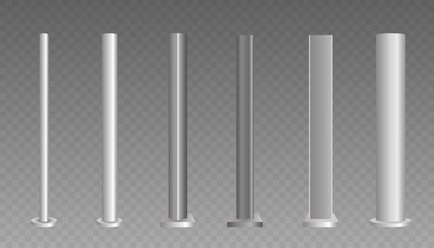 Base column made of metal