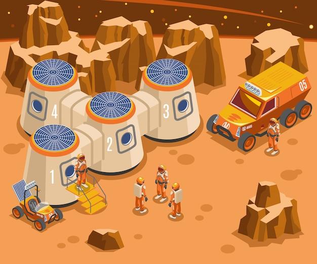 화성 아이소 메트릭 그림에 기초