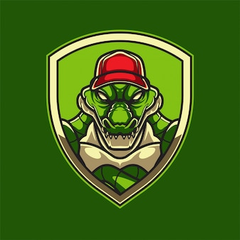 Baseball alligator logo