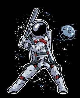 Baseball astronaut