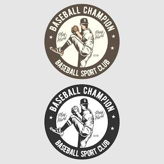 Baseball badge logo