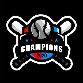 野球バッジスポーツロゴ