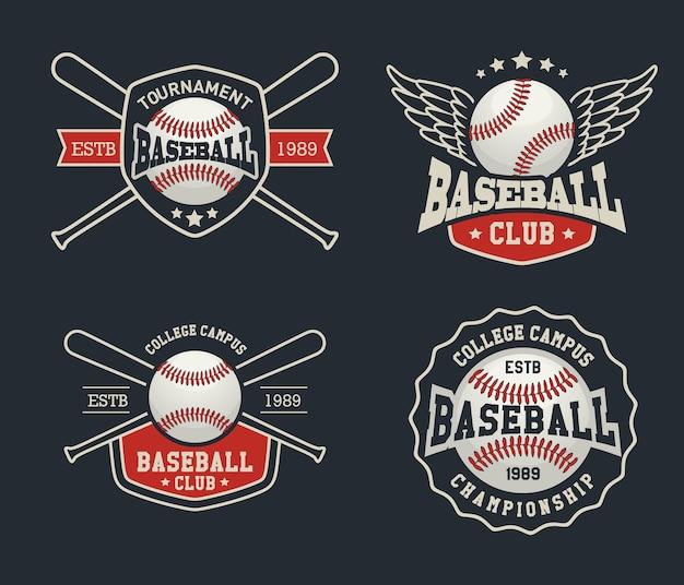 野球のバッジとラベル