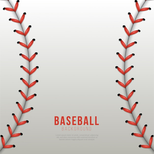 Baseball ball laces background