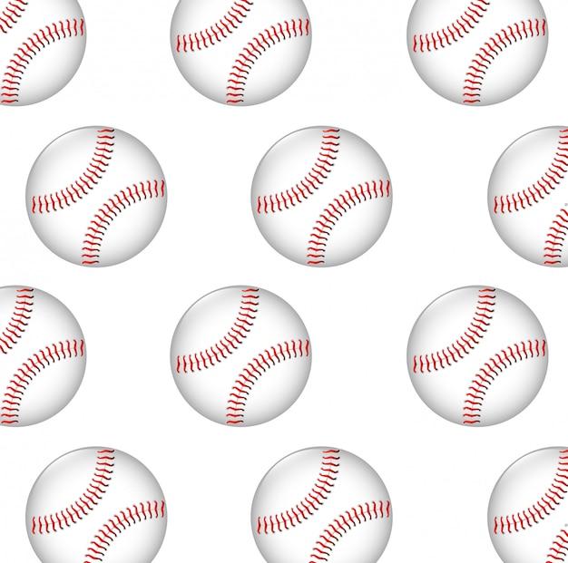 Baseball ball seamless pattern graphic