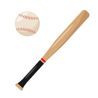 야구 방망이와 공 세트 스포츠 장비 요소