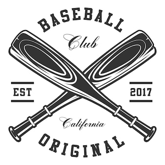 Baseball bats on white background. text is on the separate layer.