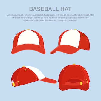 Baseball cap, hat isolated