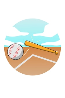 Baseball cartoon illustration